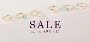 Discount on rings at the Gemondo Summer Sale