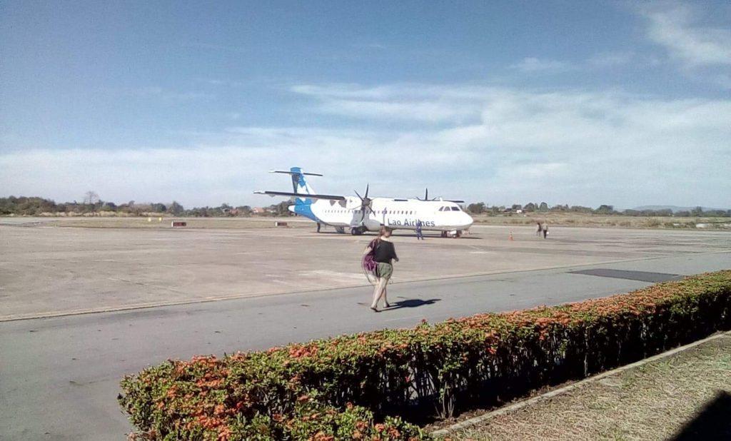 ATR-72 at Pakse Airport, Laos..
