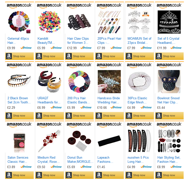 Hair Accessories at Amazon